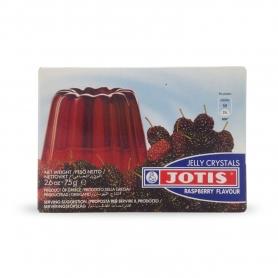 Preparato per budino in gelatina gusto Lampone, 75 gr - Jelly Cristals