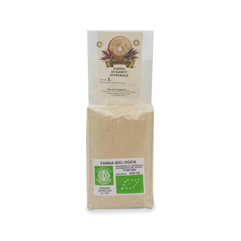 Wholemeal organic kamut, 1 Kg - Mulino Sobrino