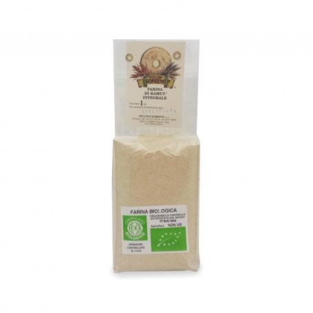 Farina di kamut integrale bio, 1 Kg - Mulino Sobrino - Farine