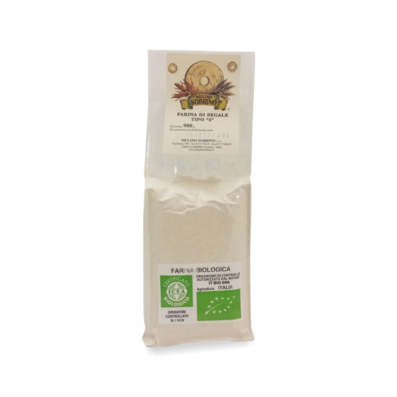 Farina di segale tipo 2 bio, 1 Kg  - Mulino Sobrino