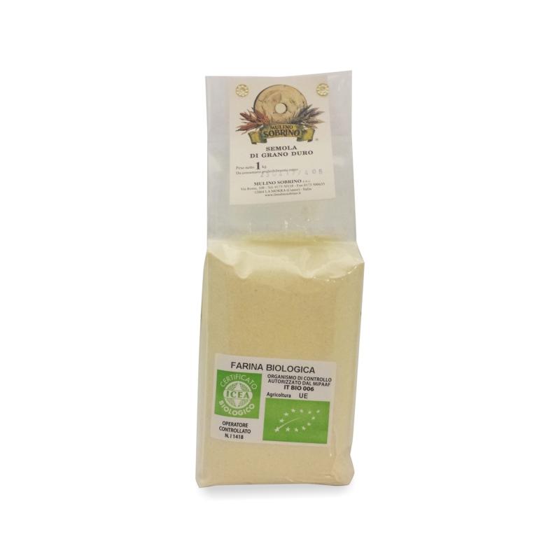 semolina wheat flour bio 1 Kg - Mulino Sobrino