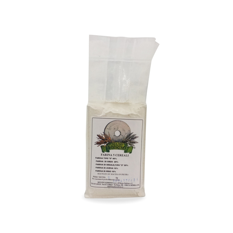 Organic wholemeal rye flour, 1 kg - Mulino Sobrino