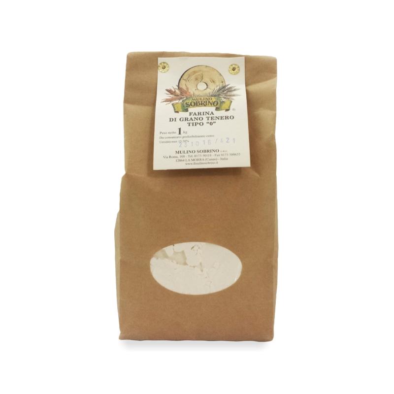 Weizenmehl Typ 0 Bio, 1 kg - Mulino Sobrino