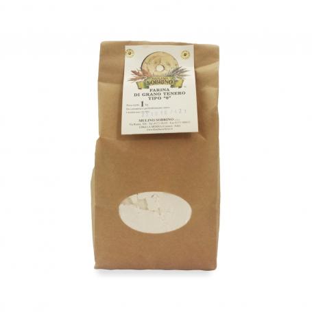 Wheat flour type 0 Bio, 1 kg - Mulino Sobrino