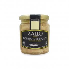 """Tonno """"Bonito del Norte"""" in vetro in olio di oliva, 220 gr - Zallo"""