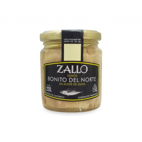 "Tuna ""Bonito del Norte"" in glass of olive oil, 220 gr - Zallo - Conserve di mare"