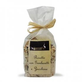 Risotto mit Garnelen und Zucchini, 250 g. - Zaccaria