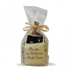 Risotto aux saucisses et cèpes, 250 gr. - Zaccaria