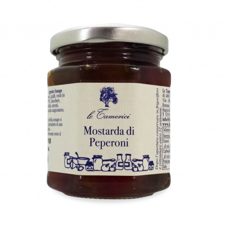 Mustard of pears, 220 gr. - Le Tamerici