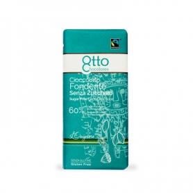 Cioccolato fondente senza zucchero Perù 60%, 100 gr. - Otto chocolate