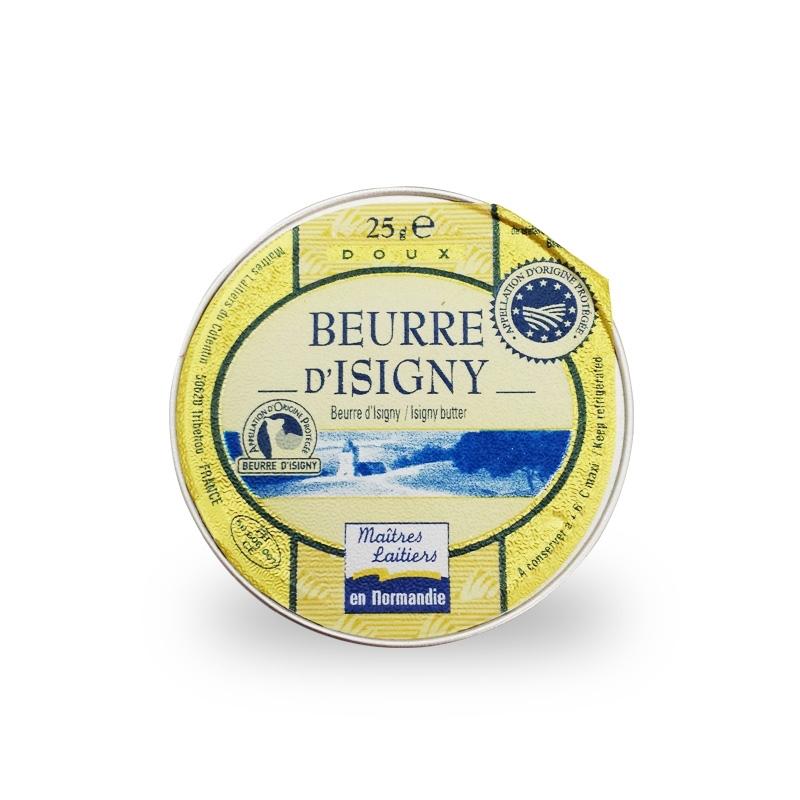 Burro dolce monoporzione, 25 gr., Confezione da 48 pz -  Beurre d'Isigny