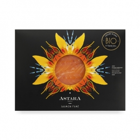 BIO Smoked Irish salmon, cover from 4 slices, 200 gr - Astara