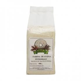 Organic whole oat flour, 900 gr - Mulino Sobrino