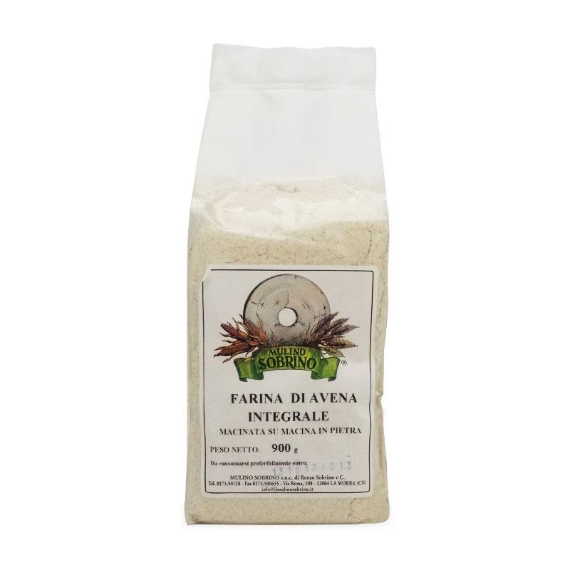 Organic whole oat flour, 1 kg - Mulino Sobrino