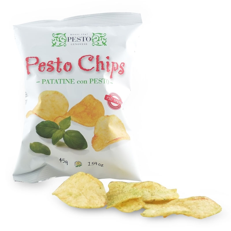 Pesto Chips by Tartuflanghe, 45 gr.