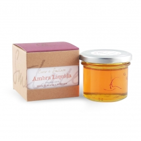 "Dressing Acacia Honey made from Saffron ""Liquid Amber"", 120 gr. - Crocus and Smilace"