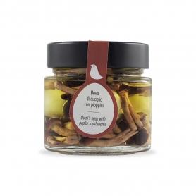 Oeufs de caille avec pioppini, 210 ml - La Giardiniera Morgan