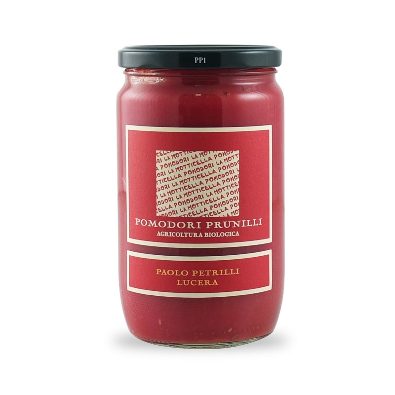pureed tomatoes with Prunilli peeled tomatoes, 314 ml - Paolo Petrilli