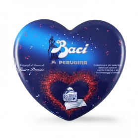Tin Heart with Baci® Chocolates with Laura Pausini Phrases, 129 gr. - Perugina