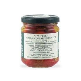 Peperoncini farciti piccanti al Tonno, 195 gr. - Il Mongetto