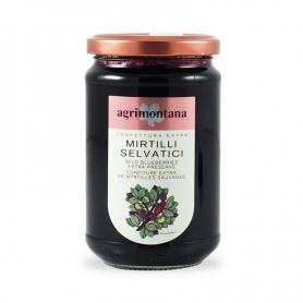 Extra Jam Wild Blueberries, 350 gr. - Agrimontana