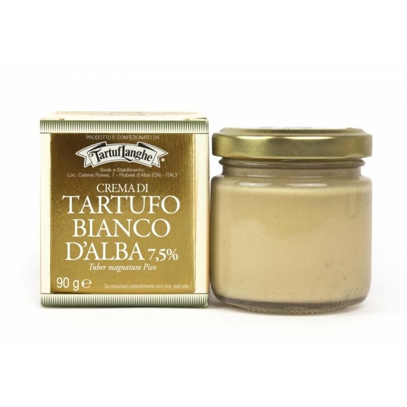 Crema di tartufo bianco d'Alba 7.5%, 90 gr. - Tartuflanghe