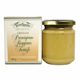 Cream of parmesan cheese with truffles, 190 gr. - Tartuflanghe