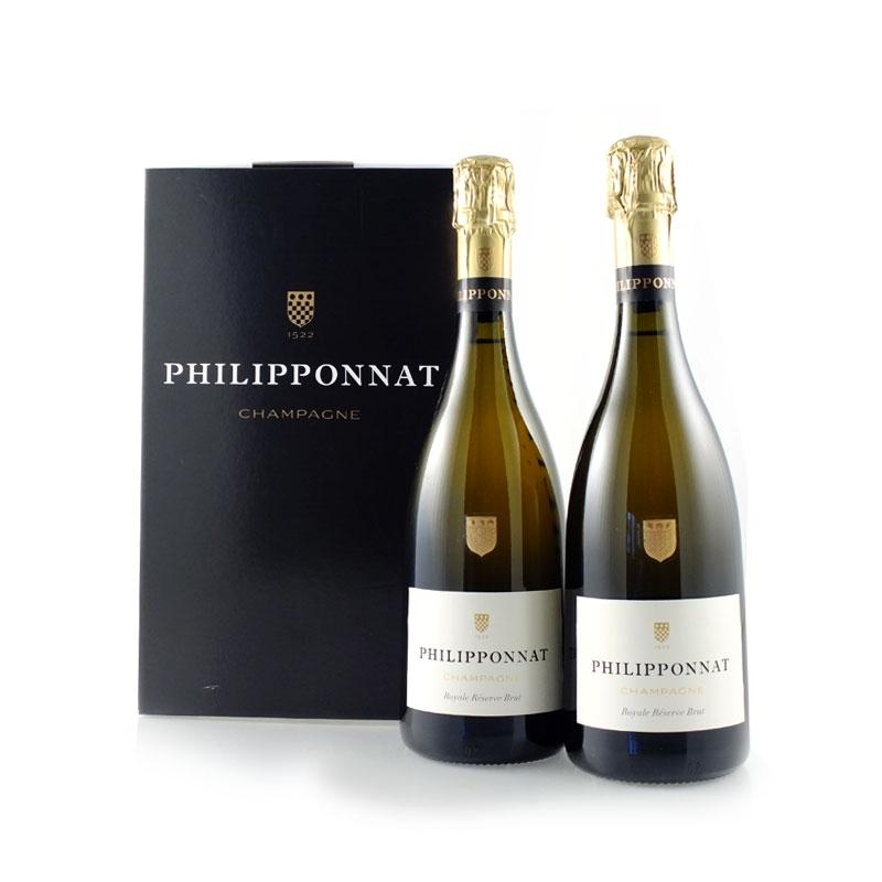 Philipponnat - Champagne Brut Royale Reserve l. 0.75 2 bottles box.