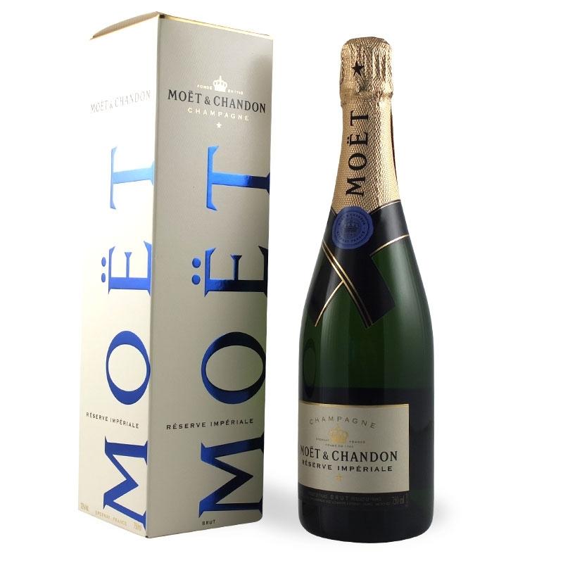 Moët & Chandon - Champagne Réserve Impériale, l. 0,75 1 sachet de bouteille.