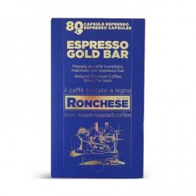 Espresso gold bar, box 80 pz. - Caffè Ronchese