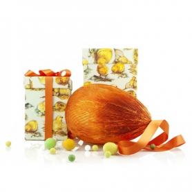 Uovo di Pasqua artigianale Rossi in scatola regalo, fondente extra spesso, 500 gr