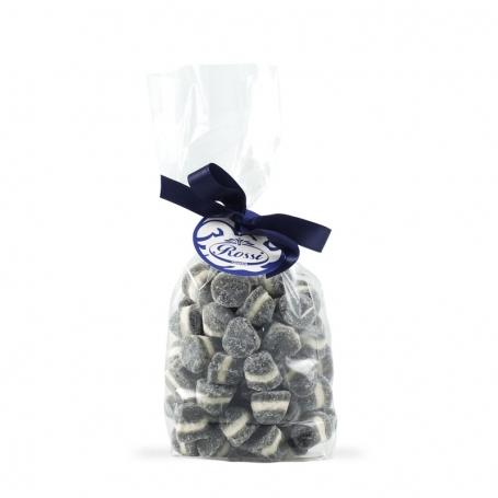 Gummy Candies blanc - noir, 500 gr