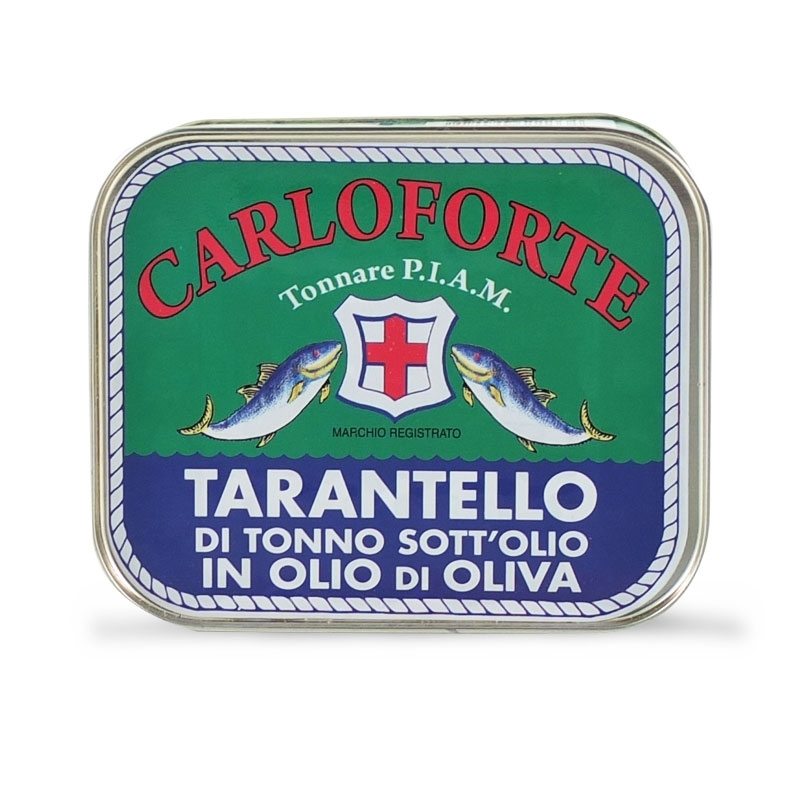 Tarantello di tonno di corsa sott'olio in olio di oliva, 350 gr  - Tonnare PIAM di Carloforte