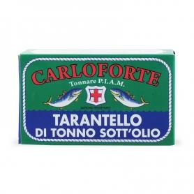 Tarantello di tonno di corsa sott'olio in olio di oliva, 170 gr  - Tonnare PIAM di Carloforte