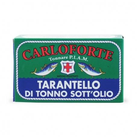 Tarantello di tonno di corsa sott'olio in olio di oliva, 170 gr - Tonnare PIAM di Carloforte - Conserve di mare