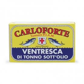 Ventresca di tonno di corsa sott'olio in olio di oliva, 350 gr - Tonnare PIAM di Carloforte