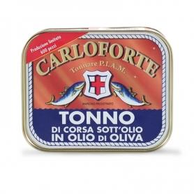 """Tonno di corsa sott'olio in olio di oliva """"Linea Gold"""", 350 gr - Tonnare PIAM di Carloforte"""