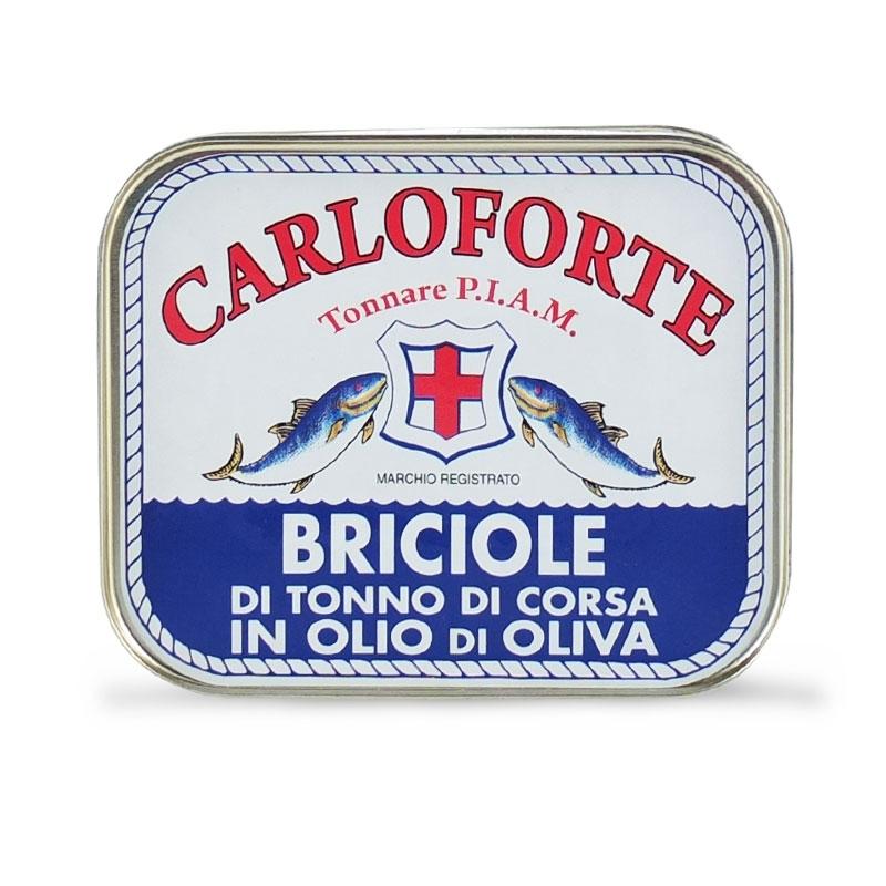 Briciole di tonno di corsa in olio di oliva, 350 gr - Tonnare PIAM di Carloforte