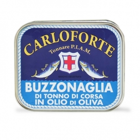 Buzzonaglia di tonno di corsa in olio di oliva, 350 gr - Tonnare PIAM di Carloforte