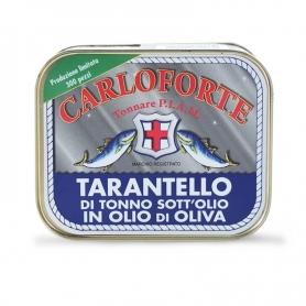 """Tarantello di tonno di corsa sott'olio in olio di oliva """"Linea Gold"""", 350 gr  - Tonnare PIAM di Carloforte"""