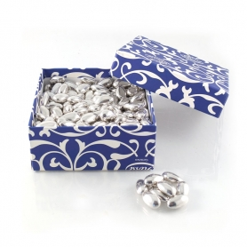 Silver confetti - Silver wedding 25 years, 1 kg