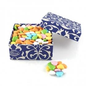 Schokoladen-Herzen Farben sortiert