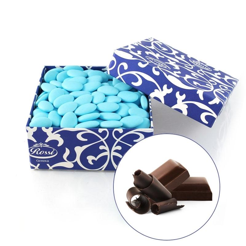 Confetti bleu chocolat noir, 1 kg