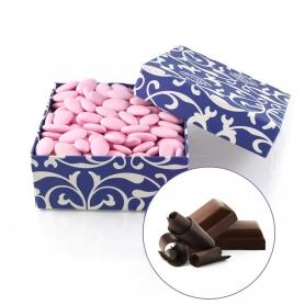 Konfetti Rosa dunkle Schokolade, 1 kg