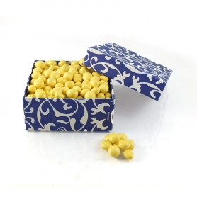 Lemon Cubes covered with confectioned white chocolate, 1 Kg