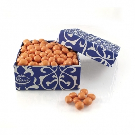 Orange Cubes covered with confectioned white chocolate, 1 Kg