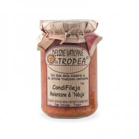Condifileja aubergine et nduja, 280 gr - Delights Vatican Tropea