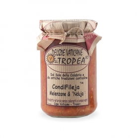 Condifileja eggplant and nduja, 280 gr - Delights Vatican Tropea
