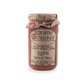 Red Onions of Tropea and Nduja, 180 gr - Tropea's Delights
