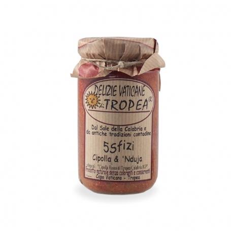 Cipolle rosse di Tropea e Nduja, 180 gr - Delizie Vaticane di Tropea - Sughi di carne e cacciagione